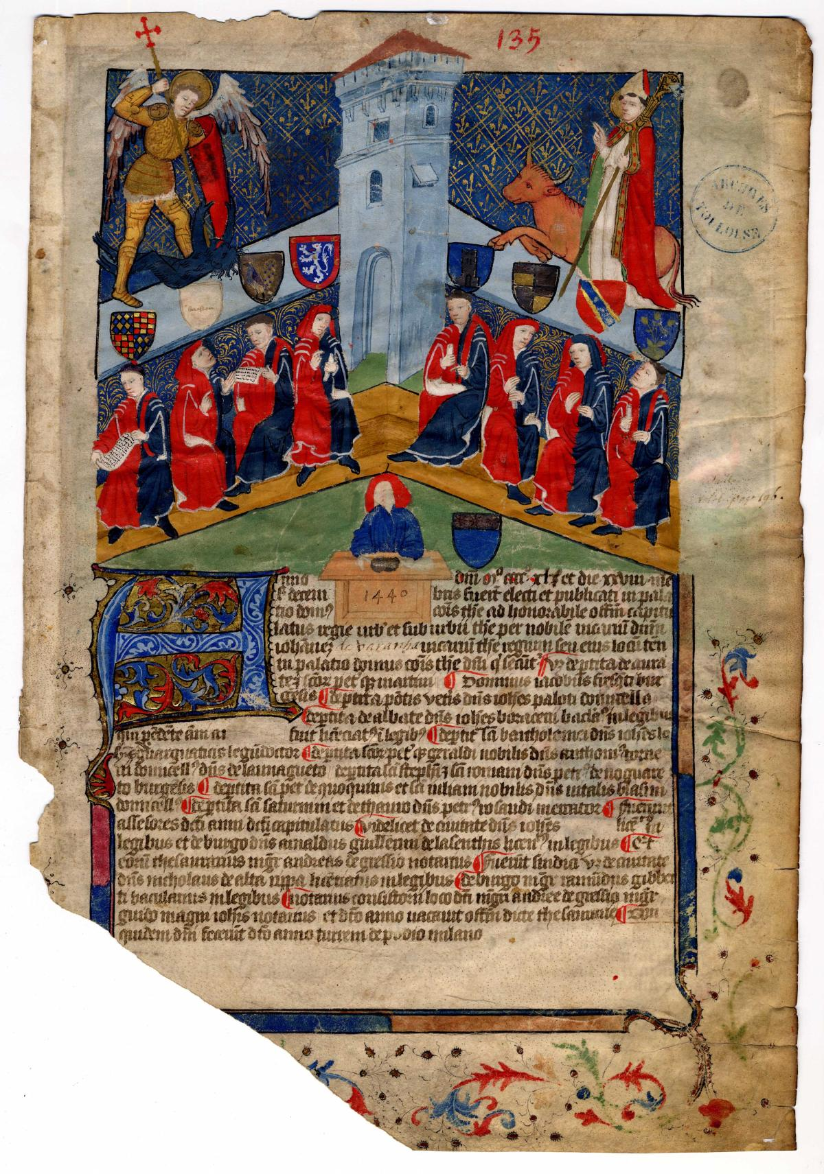 Les armoiries - Toulouse archives
